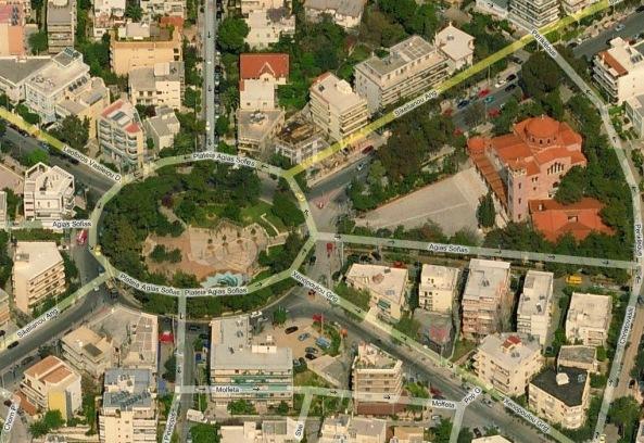 Αεροφωτογραφία Πλατείας Αγίας Σοφίας
